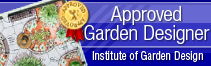 blackford Centre For Garden Design Approved blue Logo