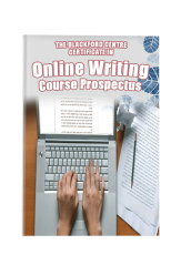 Online Writing Course brochure